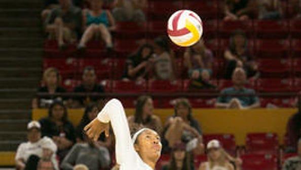 Mercedes Binns and her ASU volleyball teammates need