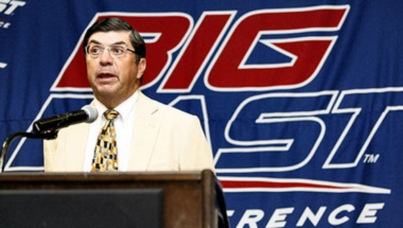 Big East commissioner Michael Tranghese speaks at the