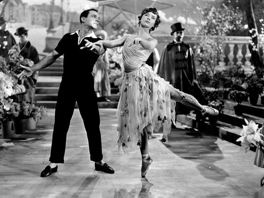 Gene Kelly and Leslie Caron in 'An American in Paris'.