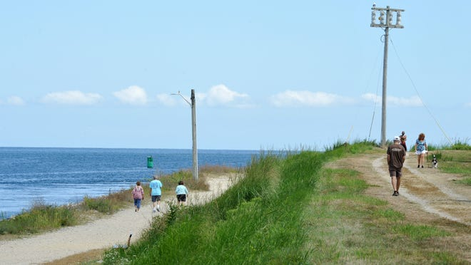 Cape Cod Canal offers some of the many trails available for hiking and biking.