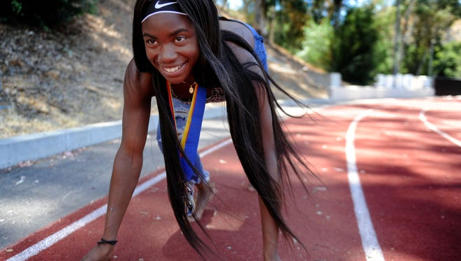 Calabasas High's De'Anna Nowling has won sectional titles in four individual and four relay finals, and won her first state crown in the 100 meters in June.
