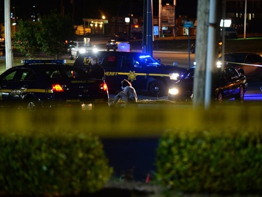Scenes from an officer involved shooting Monday night in Taylors.