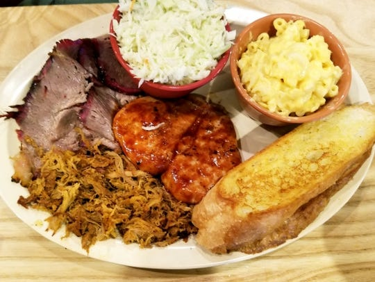 Southern Pig and Cattle Co.'s three-meat combo with
