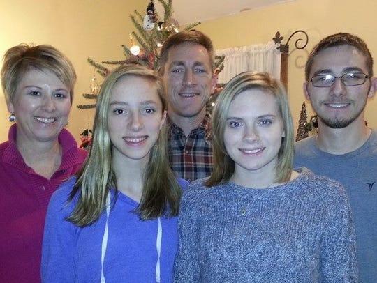 The Hammerle family (from left): Amy, Sara, Rick, Megan