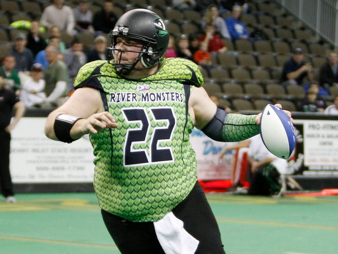 Former NFL quarterback Jared Lorenzen re-emerged on the scene in recent weeks playing for the Northern Kentucky River Monsters of the Continental Indoor Football League.