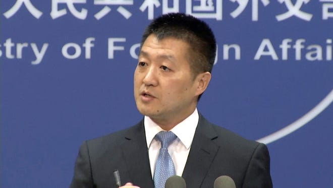 Chinese Foreign Ministry spokesman Lu Kang called on the U.S. to avoid discussion of the issue and reasserted China's claim of sovereignty over the tiny uninhabited islands