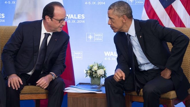 President Obama and French President Francois Hollande last year.