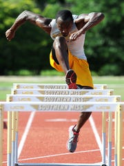 Southern Miss' Randy McCoy practices Wednesday as he prepares to compete in the 110-meter hurdles in the 2014 NCAA National Outdoor Championship. McCoy will head to Eugene, Ore. to compete in the event.
