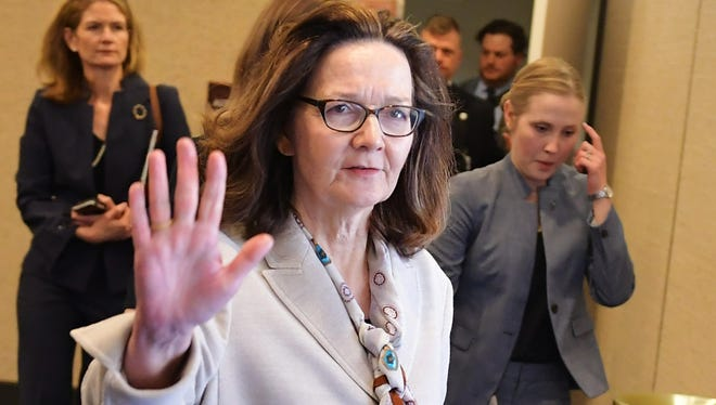 Gina Haspel appears after testifying before the Senate Intelligence Committee on her nomination to be the next CIA director.