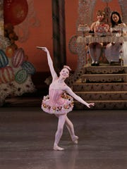 "Kristen Segin of Voorhees dances the Marzipan role with New York City Ballet in ""George Balanchine's The Nutcracker."""