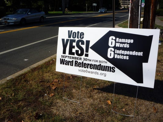 Activists out in front of Ramapo ward vote