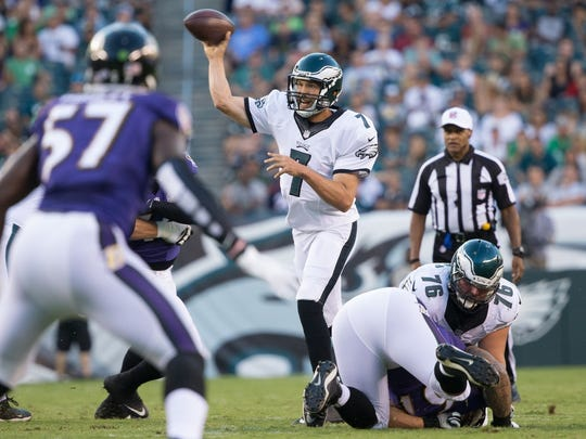 Going back to his debut against Baltimore, Bradford has led the Eagles to touchdowns on all four of his drives.
