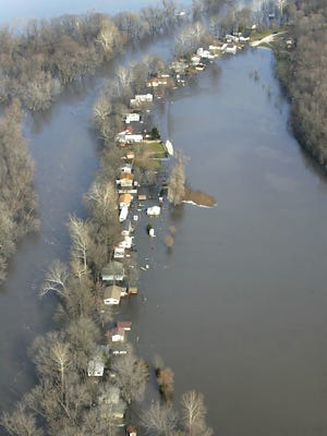 FILE-Flooding in the Goldsberry Rd. area in Tippecanoe County on Wednesday January 9, 2008.