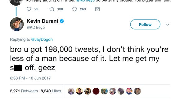 1683e5b5f 14 times Kevin Durant destroyed a Twitter hater this offseason like a champ