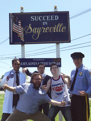 "The cast of ""Gettin' The Band Back Together"" in Sayreville,"