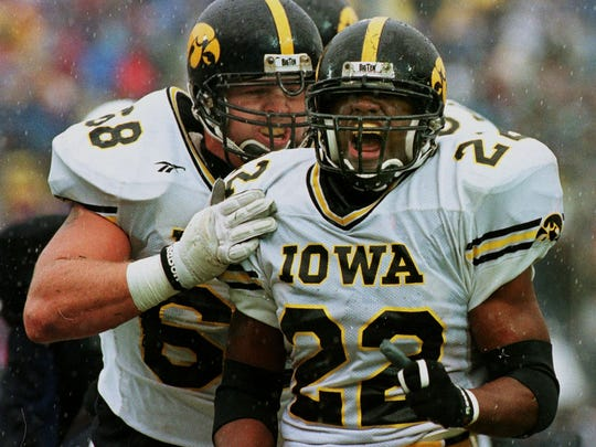 Tavian Banks, RB, Bettendorf: A two-time all-state pick in 1991-92. Banks went down as one of the best running backs in Iowa high school history, recording 4,317 rushing yards and 75 rushing touchdowns. He was a primary reason why Bettendorf won back-to-back state titles during his junior and senior seasons.