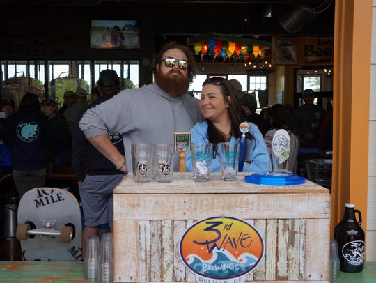 Ben Jones of 16 Mile Brewery and Tracy Huggans of 3rd