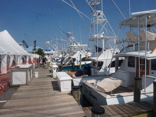 The marina located at the Ocean City Fishing Center