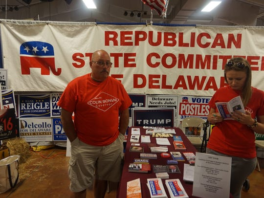 Stand for the Republican State Committee of Delaware at the Delaware State Fair