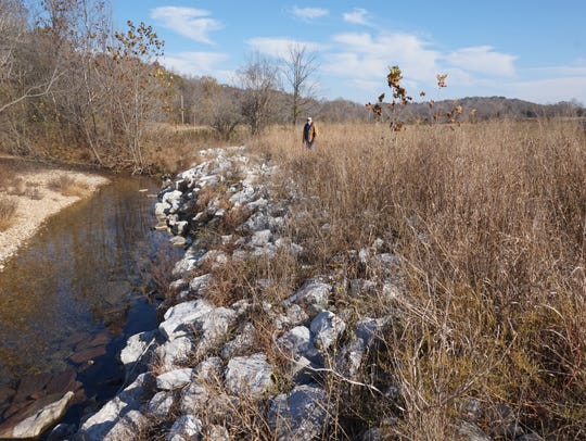 Frank Metcalf's stream bank after his conservation