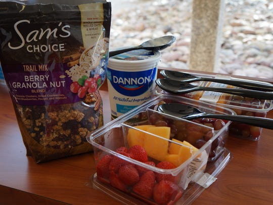 Students at Garcia Hall dorms were treated to a healthy