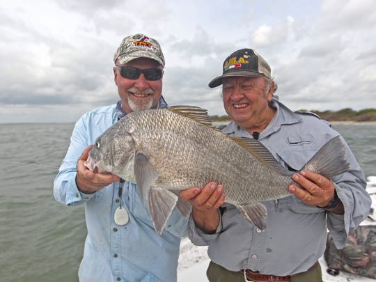 Dale Garrett was Bill Cash's guest on this charity trip with Capt. Gordon Taylor.