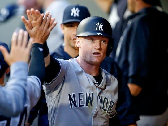 New York Yankees left fielder Clint Frazier (77) is