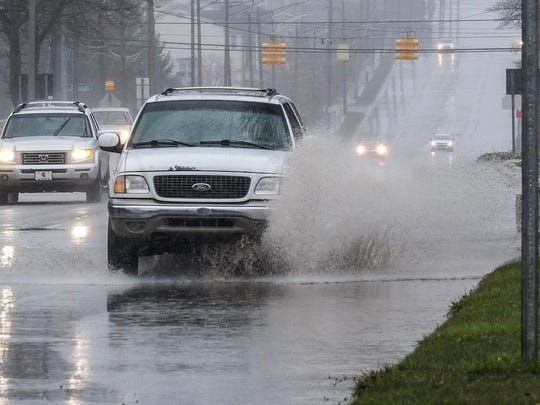 Flood warnings are in effect after several inches of rain fell in the Lansing region over the past two days.