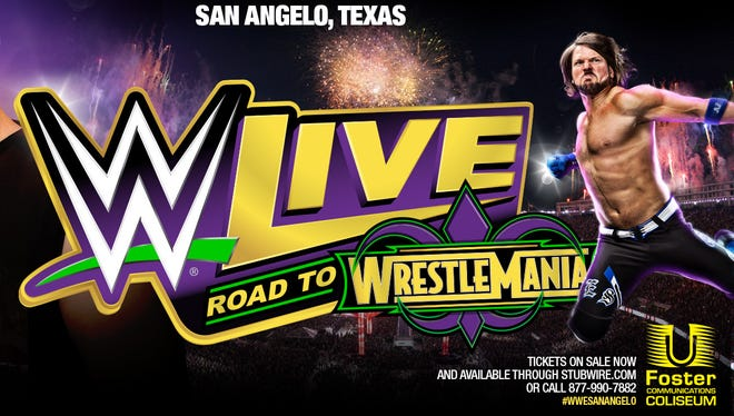 Promotional image for WWE Road to Wrestlemania happening March 18, 2018