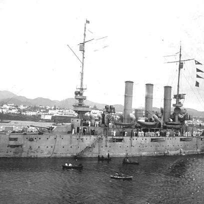 The USS Rochester in 1917. The Military History Society