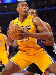 Metta World Peace re-signed with the Los Angeles Lakers this year after two years playing overseas.