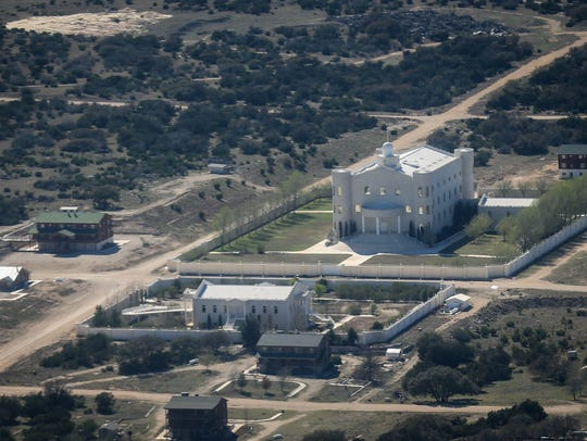 The temple on the former YFZ Ranch Tuesday, March 20,