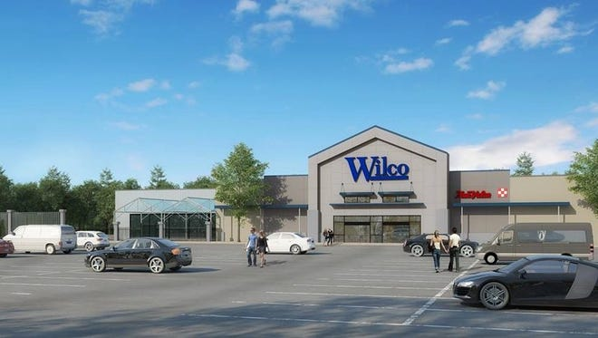 An artist's rendering of the Wilco Farm Store in Bremerton.