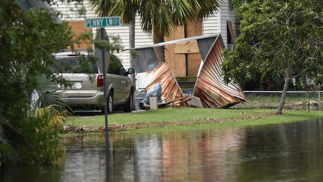 Aftermath of Hurricane Irma on Monday, Sept. 11, 2017, in Port St. Lucie and Lakewood Park.