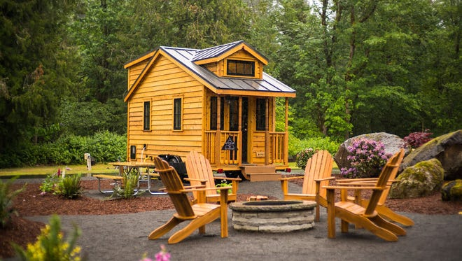 This tiny home in Oregon is part of a whole tiny home village. In York County, various zoning ordinances often prohibit tiny homes below a minimum size.