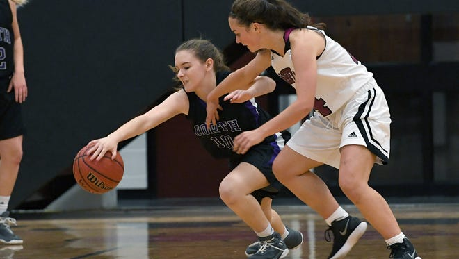 Asheville defeated North Henderson 55-15 in girls basketball at Asheville High School on Wednesday, Dec. 13, 2017.