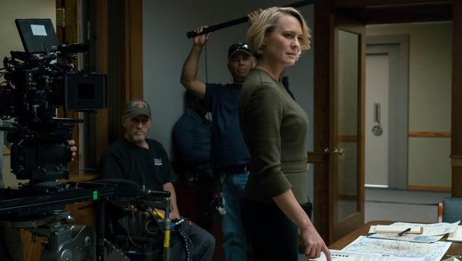Robin Wright plays Claire Underwood, in Season 5 of 'House Of Cards.'