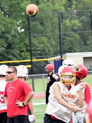 Quarterback Zach Hoover is back flinging the football for Purcell Marian