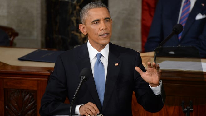 President Barack Obama delivers the State of the Union address on Tuesday from the House chamber of the United States Capitol.