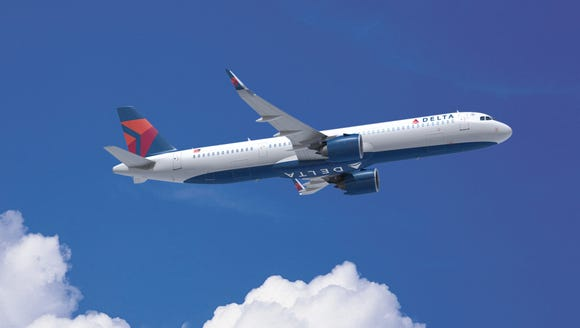 This undated image provided by Delta shows an Airbus