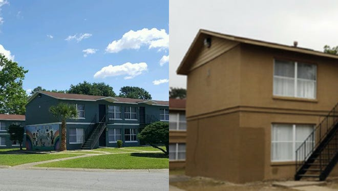 A before and after look at the Oakwood Terrace apartments in Pensacola.