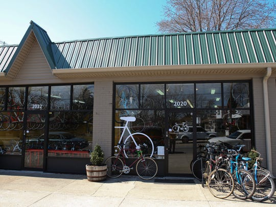 The store front at Old Bikes Belong owned by Michael Carroll on the Preston Highway. March 26, 2014