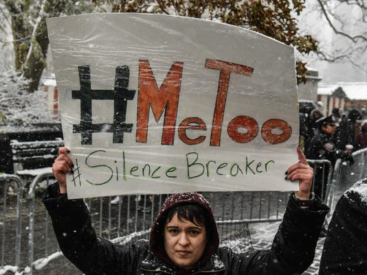 #MeToo Rally Held Outside Of Trump Tower In Manhattan
