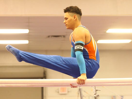 San Angelo Central High School senior Christian Cannon placed fifth in the all-around at the regional gymnastics meet in Odessa on Saturday.