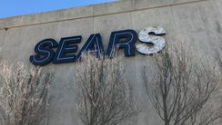 The sign at the Sears store at Paramus Park mall