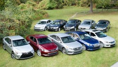 The field of 10 entrants for the $27,000 Midsize Sedan