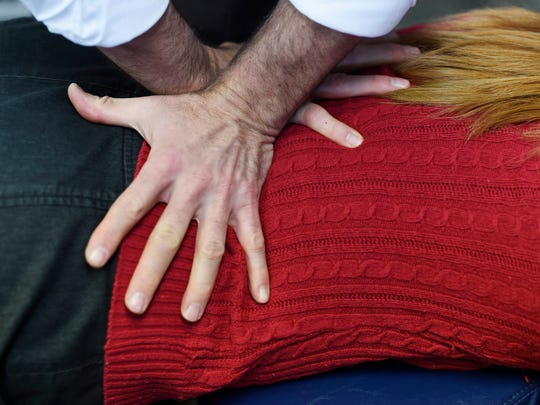 Dr. Kevin Jackson does an adjustment on a patient at Sigafoose-Jackson Chiropractic in Springettsbury Township.