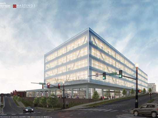 The five- or six-story office building Eakin Partners planned was expected to sit near the corner of Hermitage and Peabody avenues.