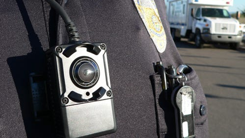 A study done with Mesa police officers found a 40 percent decrease in complaints for officers equipped with body camera.