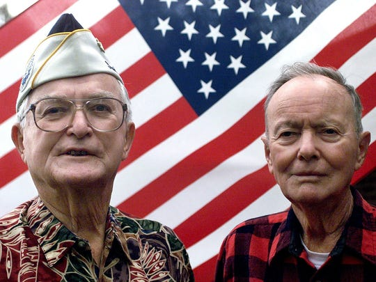 William Breland, left, and his brother Parley Breland of Walthall County were both in the Army Air Corps on Pearl Harbor on Dec. 7, 1941. Parley Breland died in 2010. William Breland turned 100 on July 9.